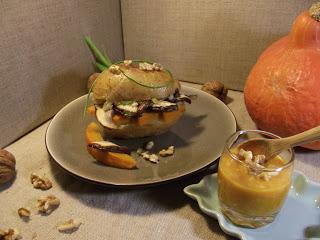 Pommes de terre au four cepes potimarron