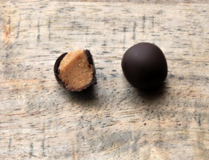 Bouchees pate de noix chocolat