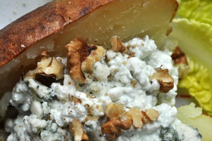 Pomme de terre au four cottage cheese roquefort détail-001
