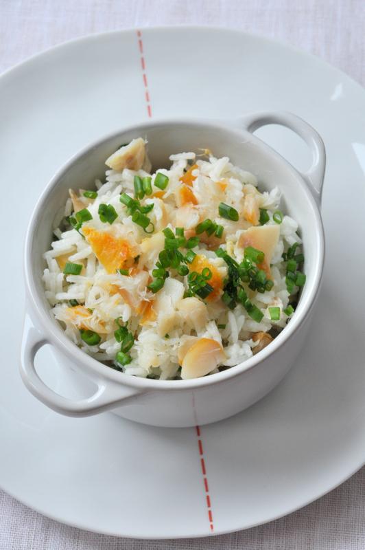 Riz pilaf au haddock et ciboulette