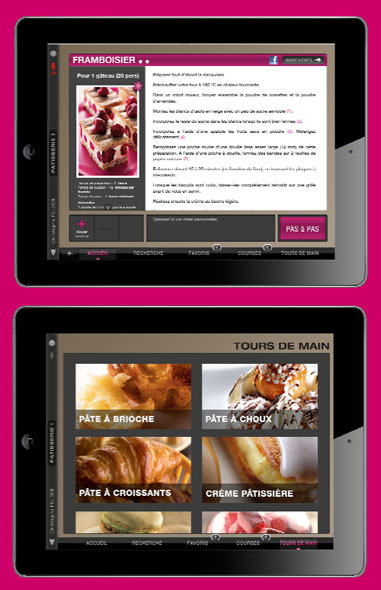 Appli iPad christophe Felder patisserie