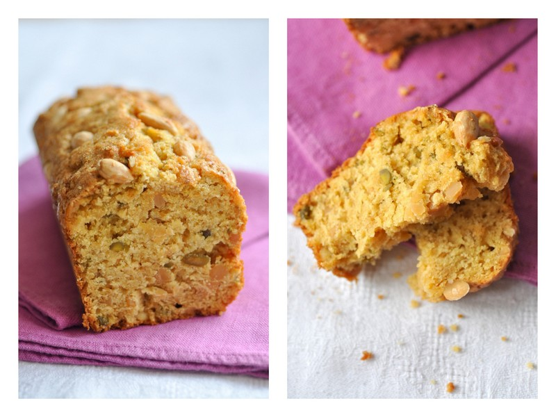 Cake petit dejeuner facon scone orange pistache amandes