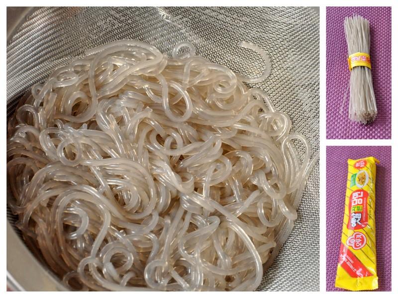 Nouilles de fécule de patate douce coreennes dangmyeon