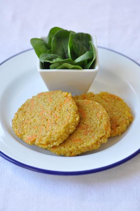 Galettes quinoa carottes