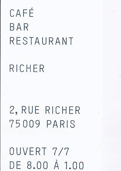 Restaurant richer