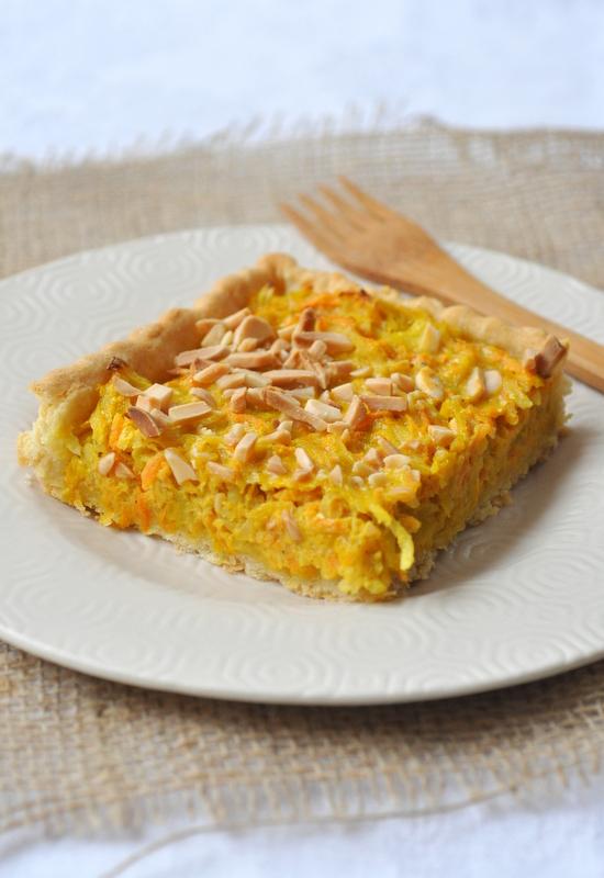 Tarte carottes pommes de terre curry