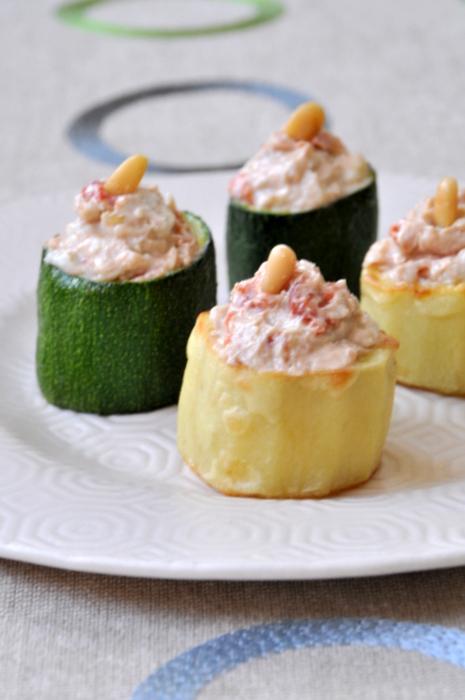Petits legumes farcis roquefort