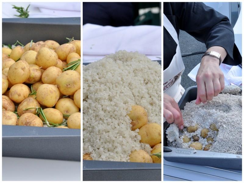 Pommes de terre primeur croute de sel