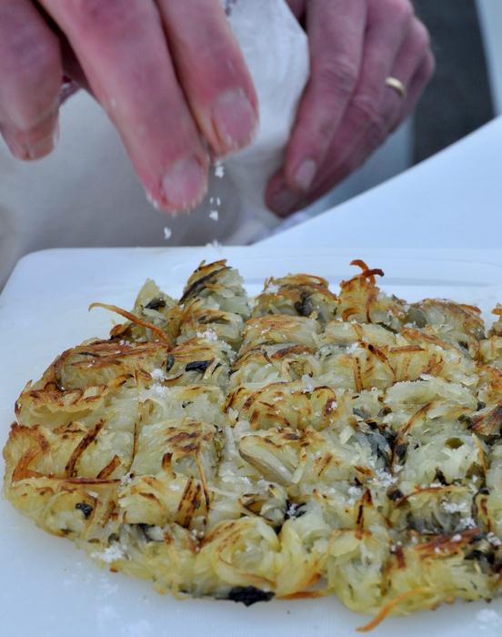 Rosti pommes de terre algue