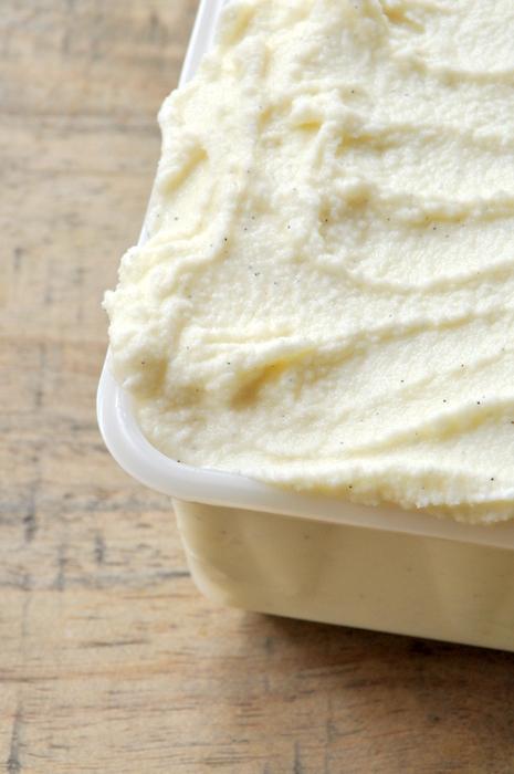 Glace à la vanille amorino faite maison
