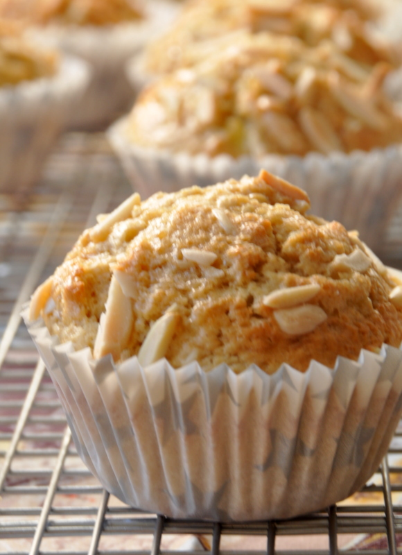 Muffins banane muscovado amandes