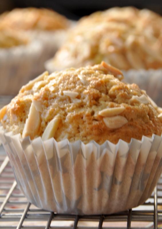 Muffins bananes amandes vue 1