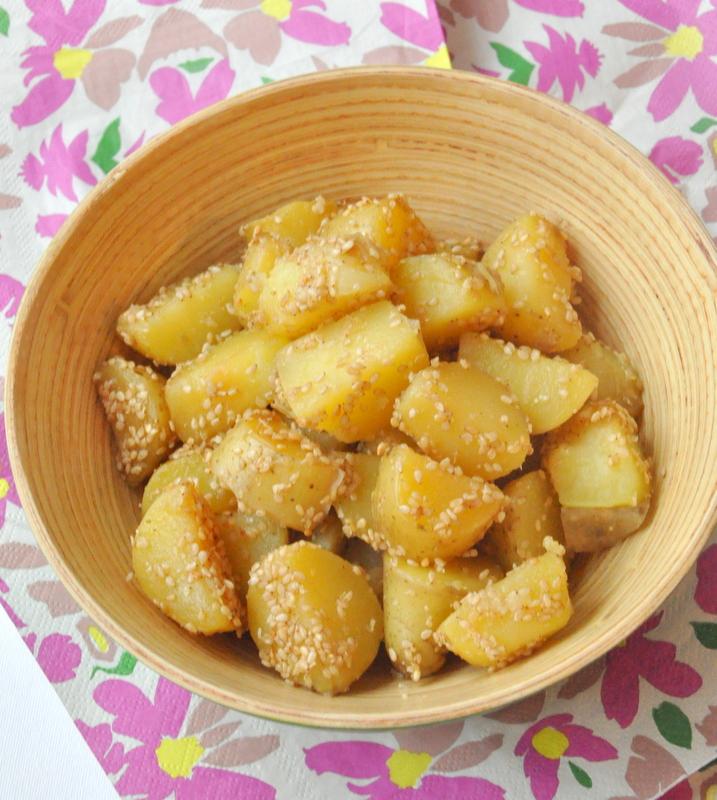 Pommes de terre confites graines de sesame