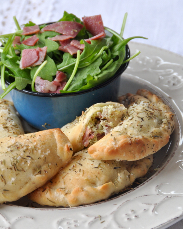 Mini calzone chevre coppa roquette