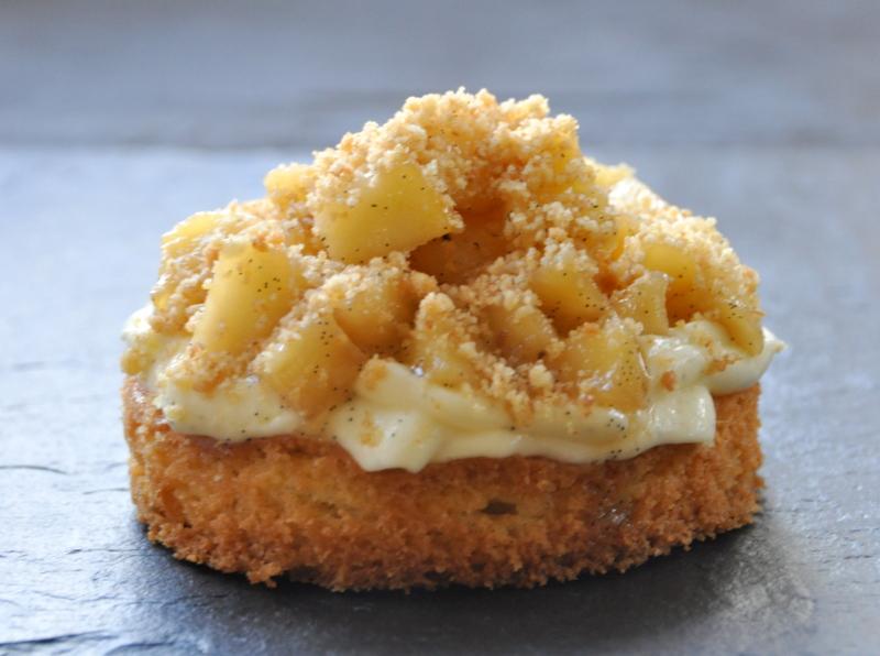Sable breton pommes creme legere vanille