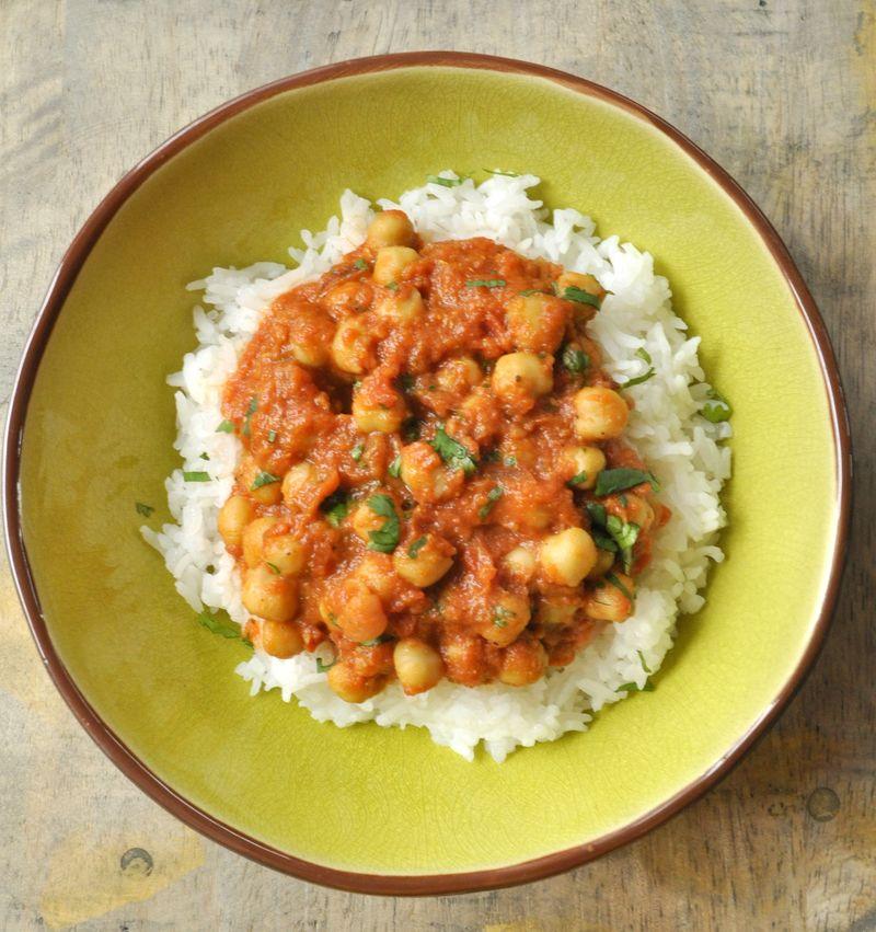 Curry de pois chiches a l'indienne