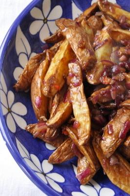 Pommes de terre  au tamarin soja miel et piment