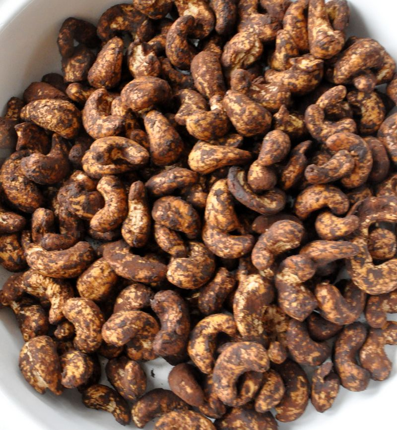 Noix cajou grillées tamarin cacao et fleur de sel