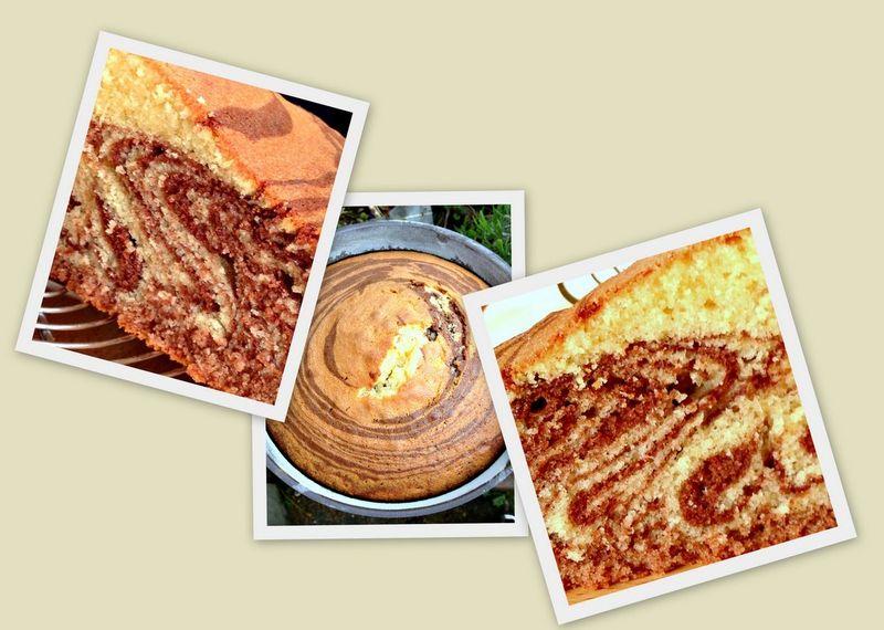 Zebra cake ou cake zebre
