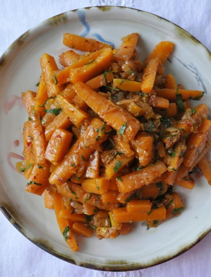 Salade de carottes epicées