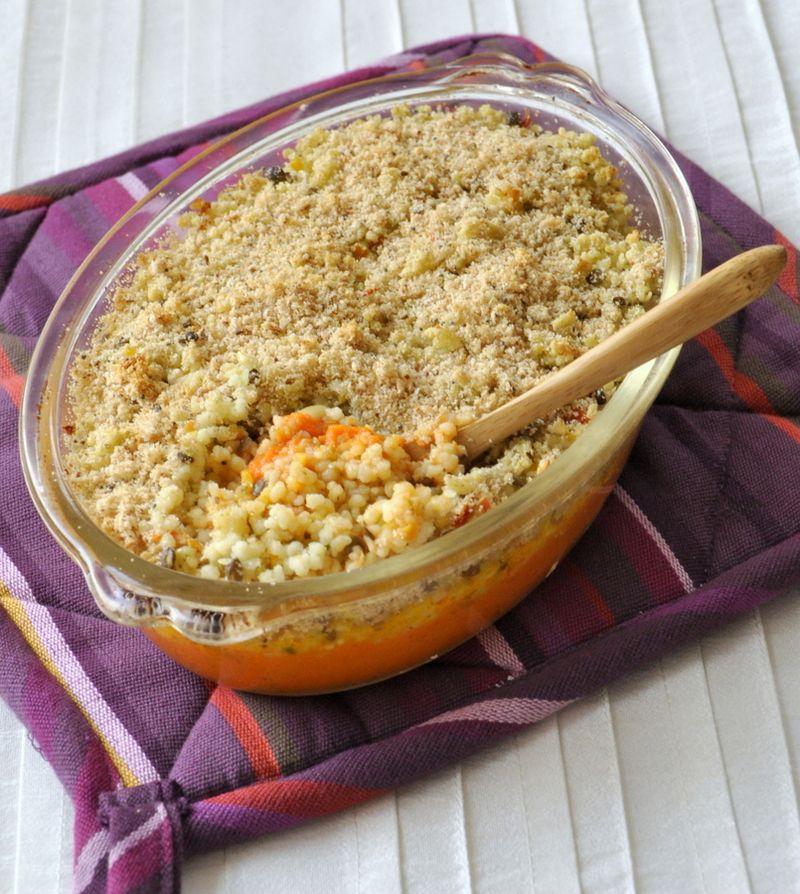 Gratin epice de carottes & cereales