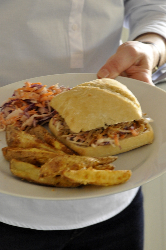 Pulled pork sandwich ou burger effiloche de porc