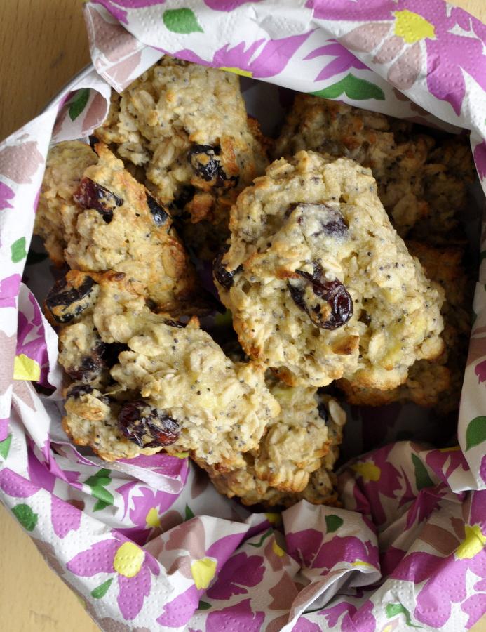Biscuits petit dejeuner aux flocons avoine et banane
