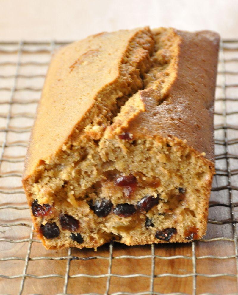 Boiled cake aux raisins secs cranberries et whisky