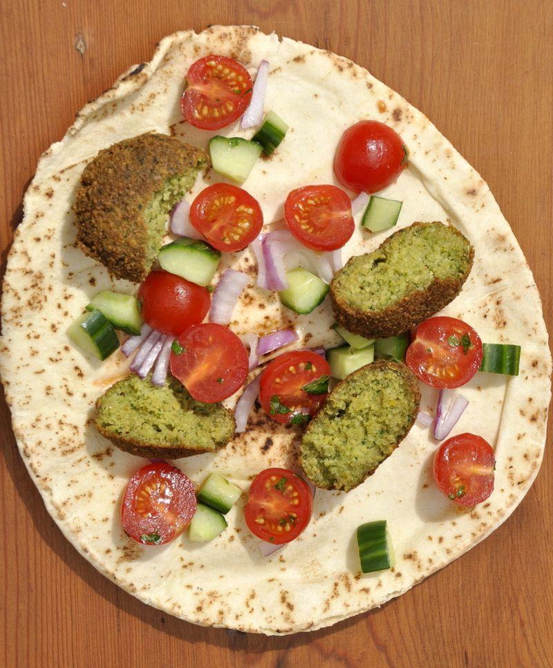 Falafels et pain libanais