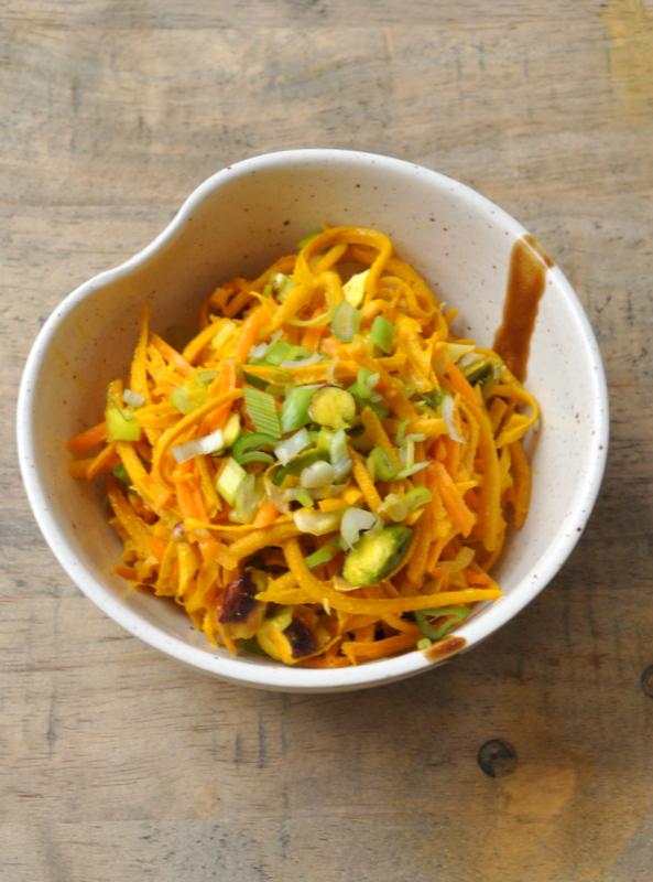 Salade rapee de courge kabocha et carottes vue 1