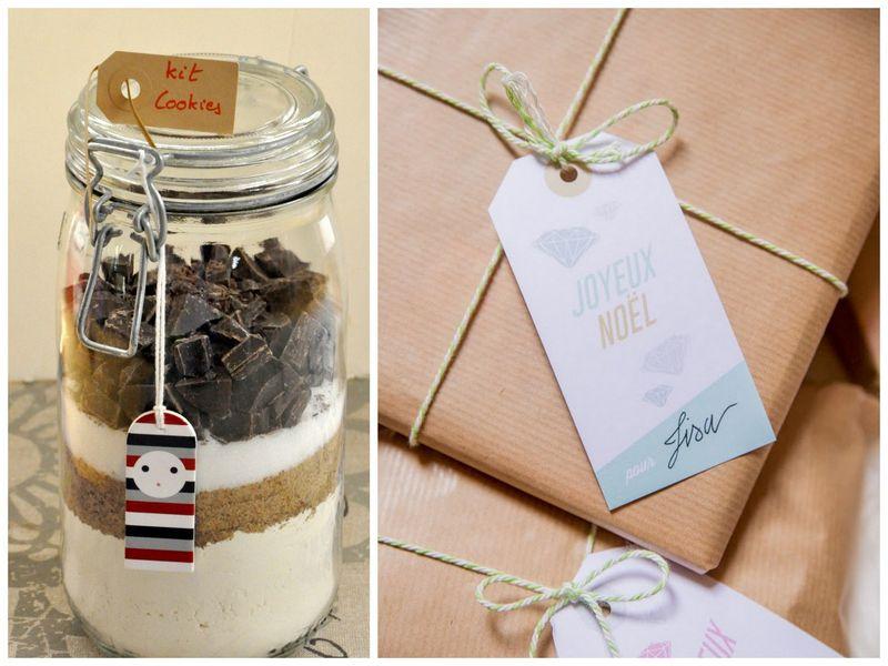 Kit cookies et etiquette pour cadeaux gourmands
