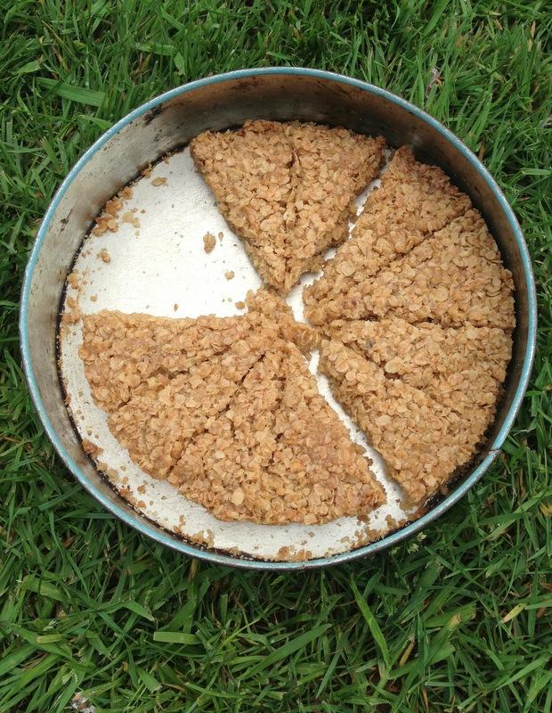 Flapjack ou barres aus flocons d'avoine