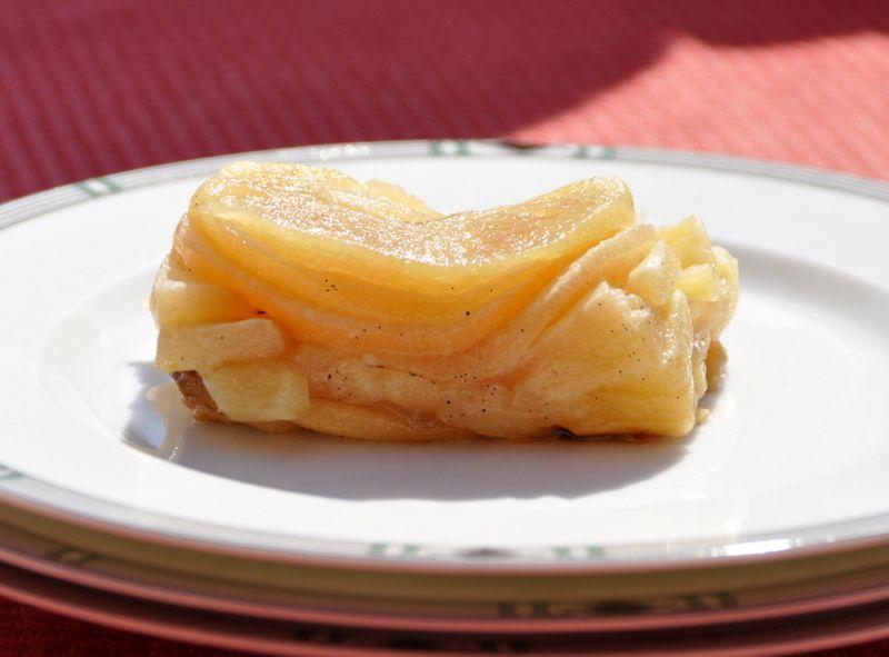 Tranche tarte tatin sans pâte