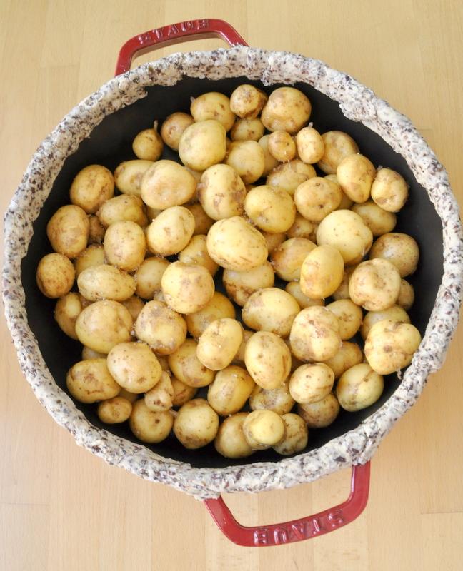 Pommes de terre primeur cocotte en fonte