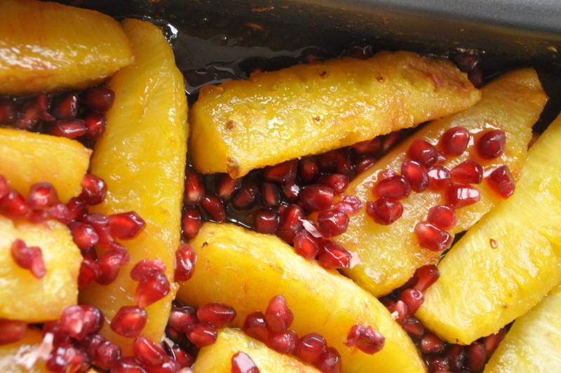Ananas caramelise  roti vanille grenade