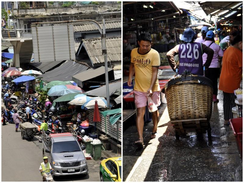 Marché de Khlong Toey bangkok