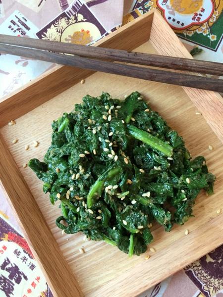 Salade epinard japonaise sesame et sauce soja