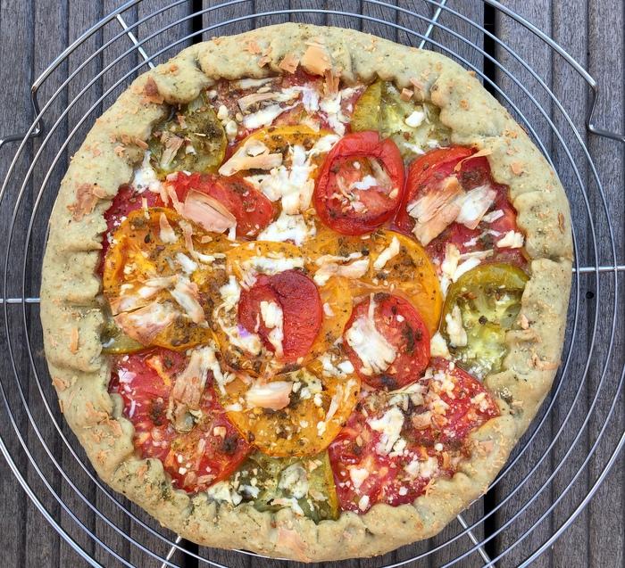 Tarte tomate fromage de chevre sans moule