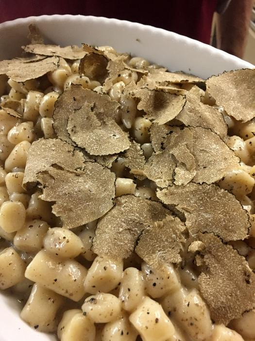 Gnocchis sans pommes de terre parmesan et truffes