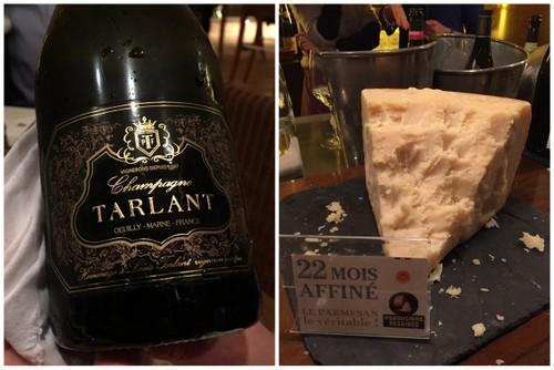Accord champagne et parmesan