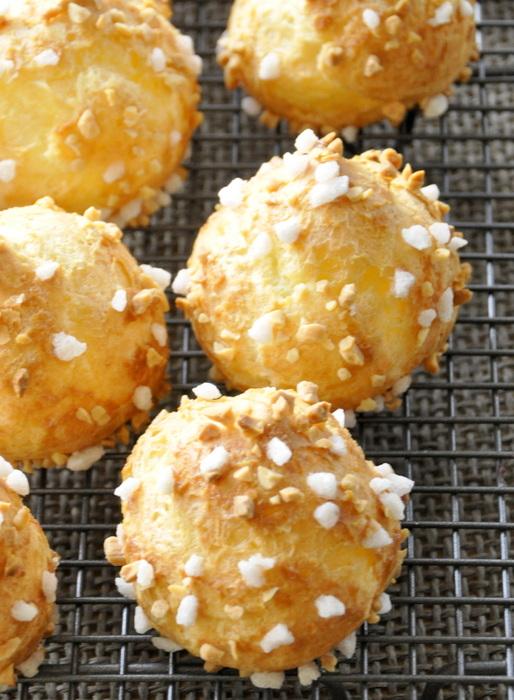 Chouquettes sucre perle et amandes
