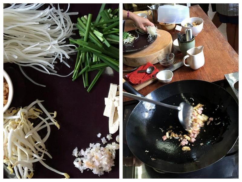 Preparation du pad thai
