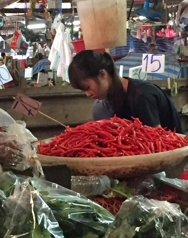 Piment oiseau marche bangkok