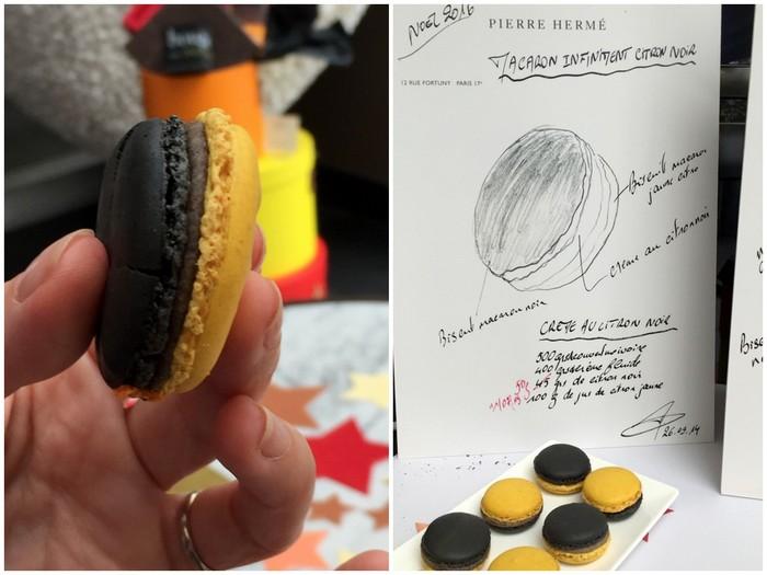Macaron infiniment citron noir pierre herme