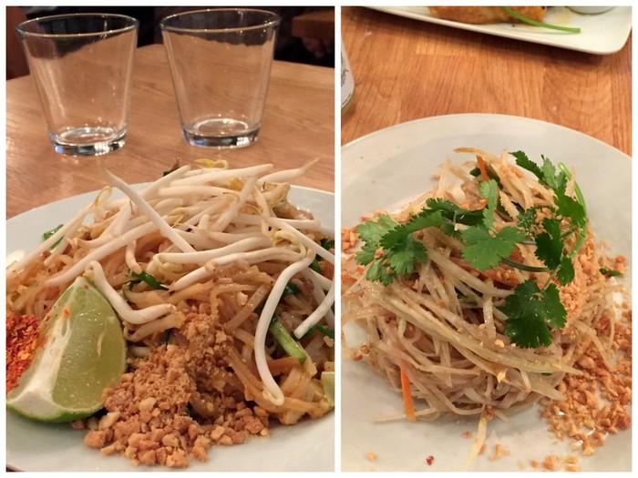 Salade de papaye verte et pad thai kapunka