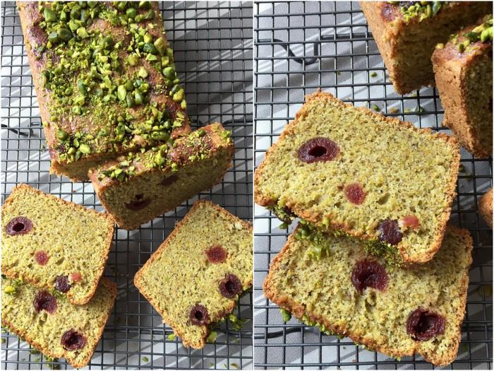 Cake pistache griottes