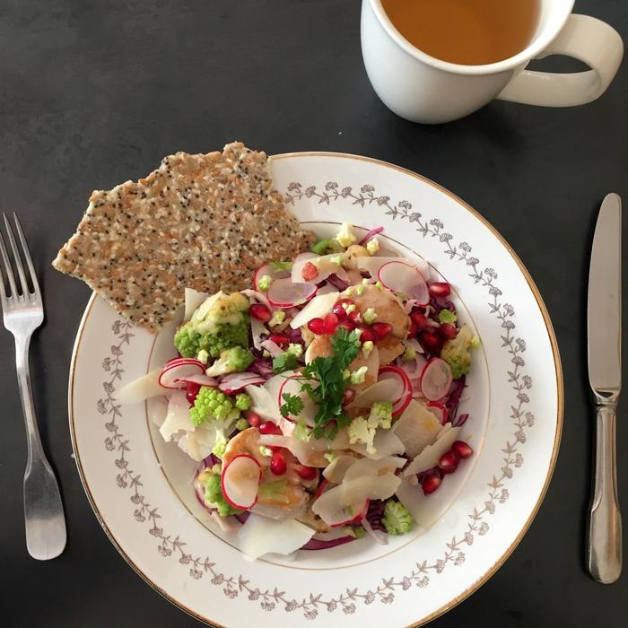 Salade poulet legumes marcelle