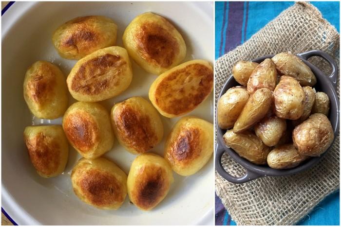 Pommes de terre rissolees avec ou sans la peau