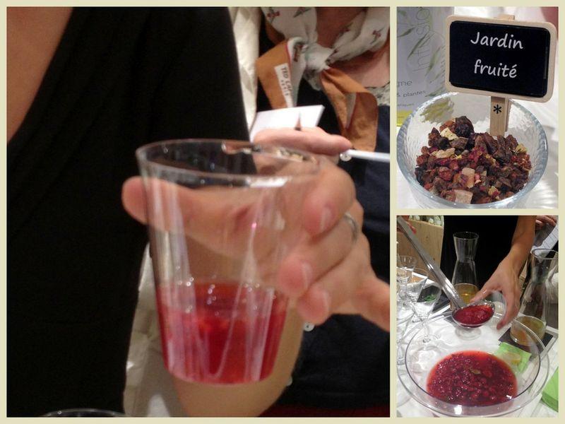 Soupe pétillante de framboises avec infusion du palais des thés