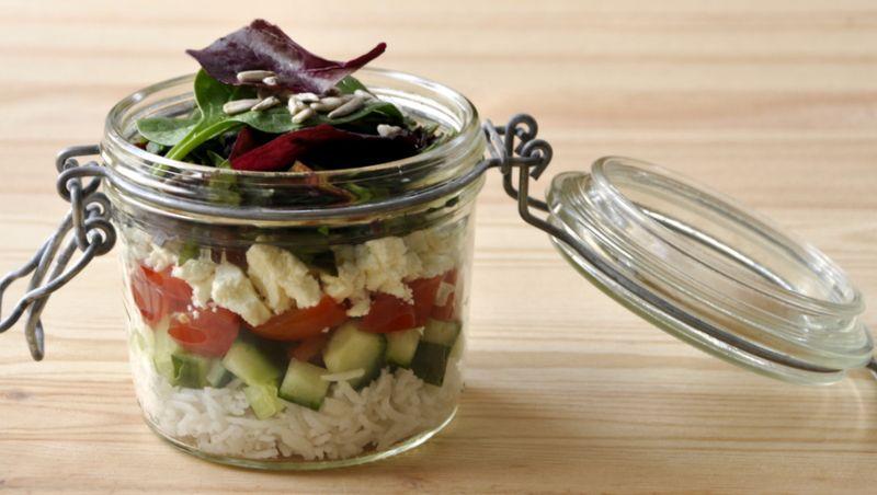 Salade en bocal ou salad in a jar